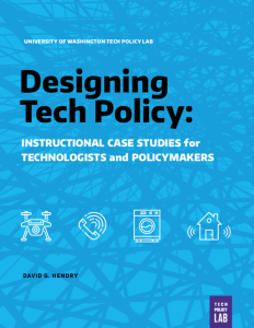 Designing tech policy cover